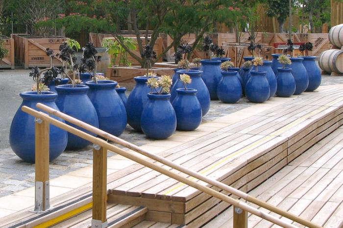 700 poterie ravel blue pots