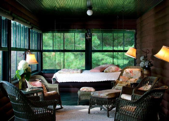 700 summer sleeping porch black ceiling