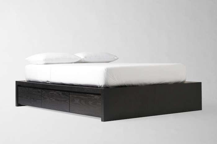 700 west elm storage bed frame black