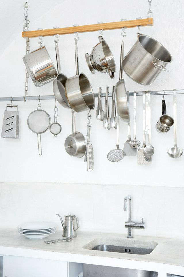 villa fabrica stainless kitchen rack