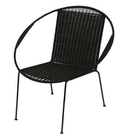 Iman Deco black chair