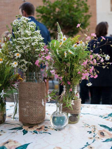 chez panisse burlap wrapped vase