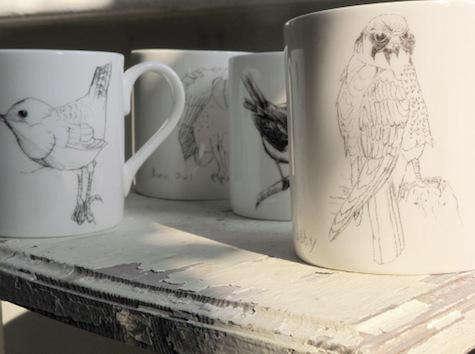 Tabletop Some British Birds Ceramics by Edwyn Collins for Elli Popp portrait 6