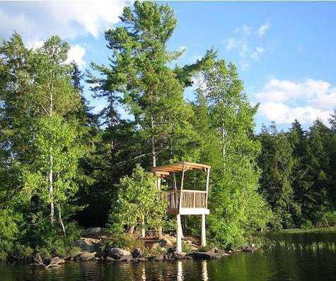 Outdoors Greenwood Studio Treehouses in Canada portrait 3