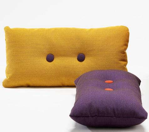 hay purple yellow steelcut pillows