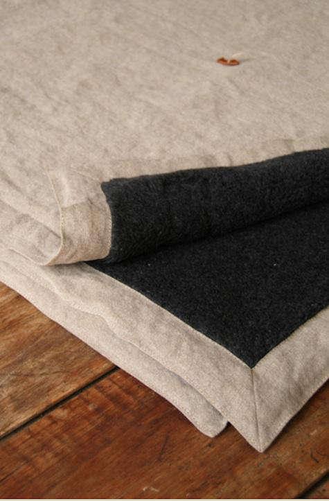 hidden cabin linen throw