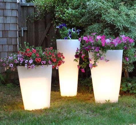 lighted planter design story