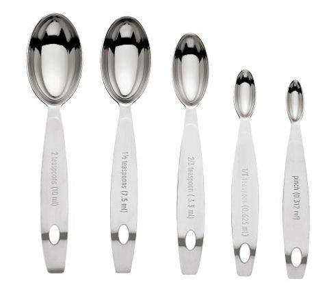 odd sized measuring spoons