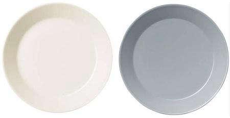 teema plate white gray