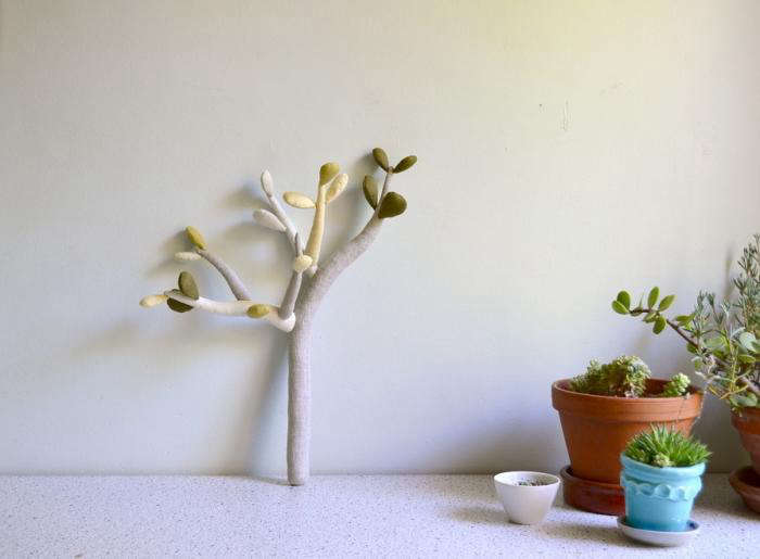 The Jade Plant is made from cotton and linen and filled with wool.