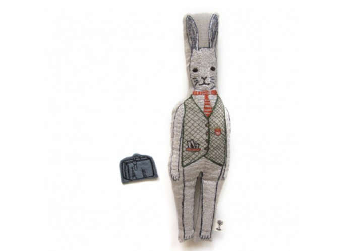 700 coral and tusk rabbit doll