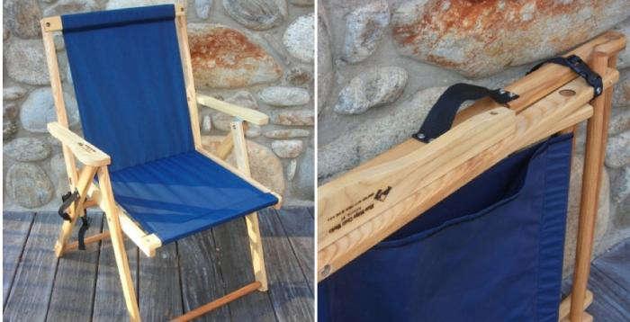 700 highlands deck chair blue folding 2