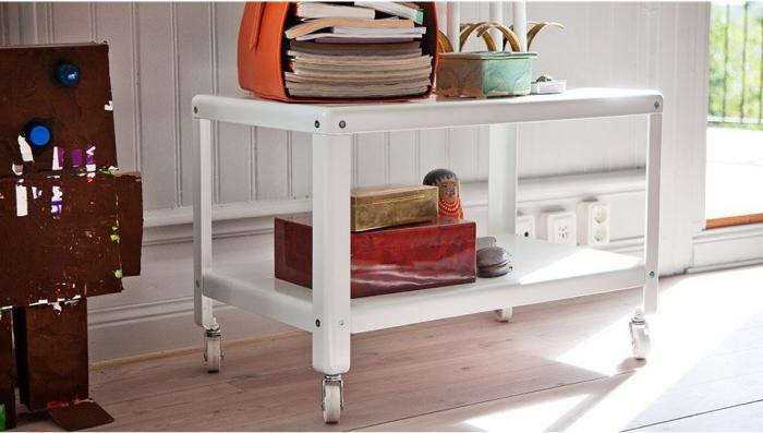 700 ikea ps rolling table white