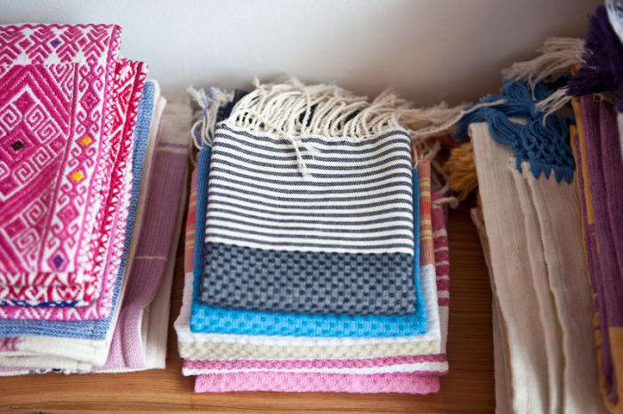 700 jm dry goods textiles stacked together