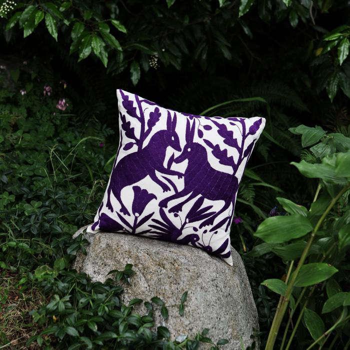 700 otomi purple pillow