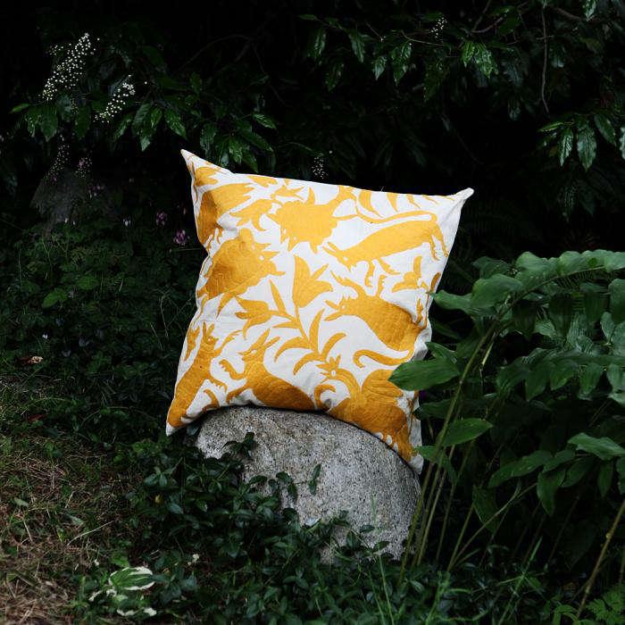 700 otomi yellow pillow