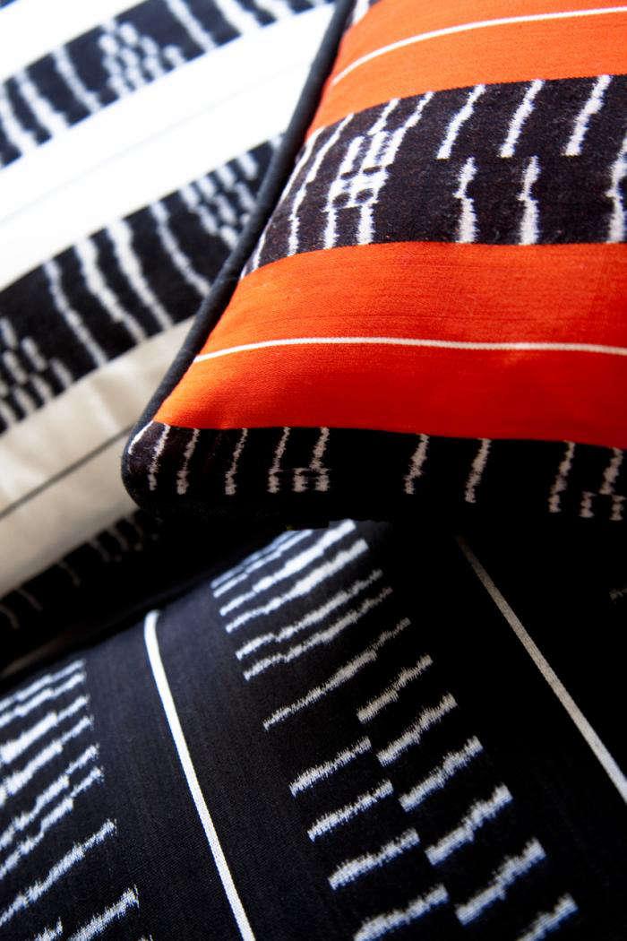 700 rebozo pillows oranage  black and white