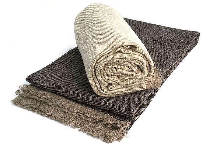 700 teixidors silk linen blanket