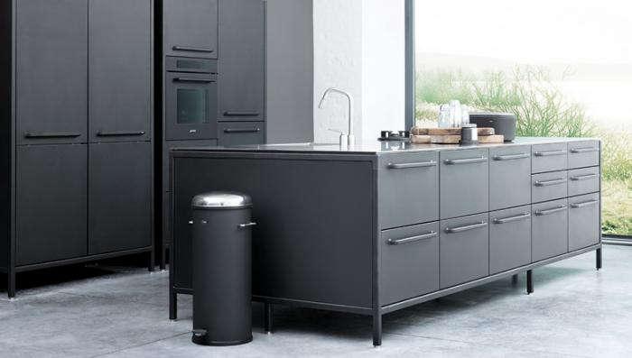 700 vipp kitchen dark gray island
