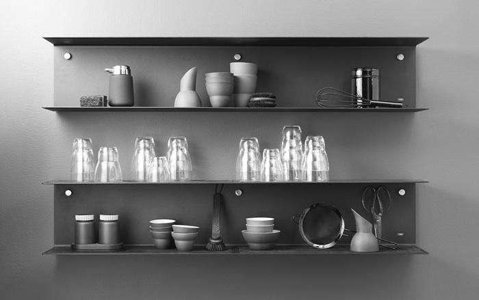 700 vipp kitchen shelving black