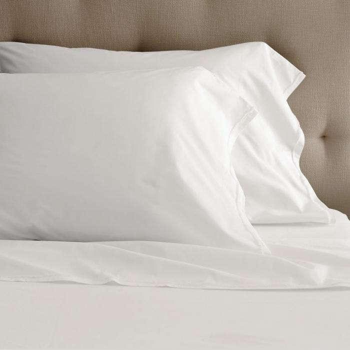 700 west elm white sheets cotton frayed edge
