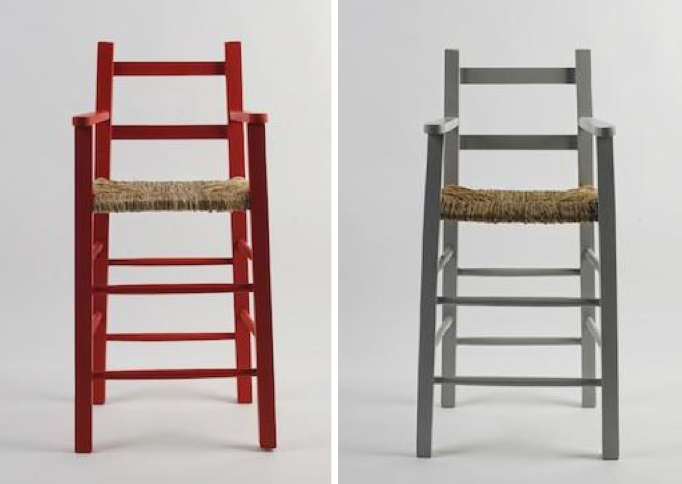 bonton red and grey highchair