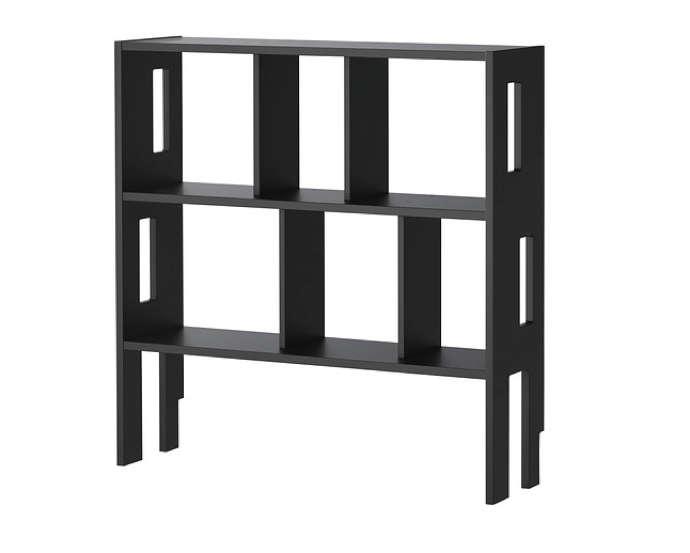 ikea ps shelf black wood