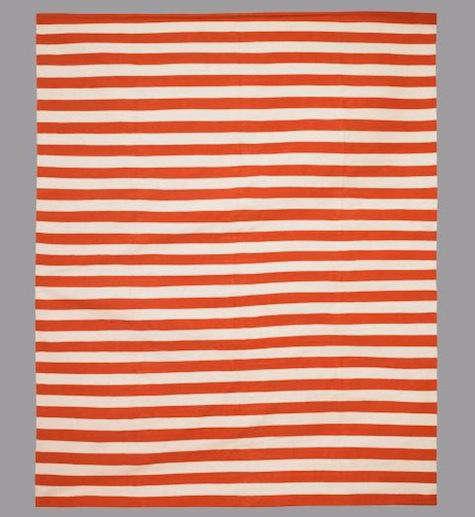 Draper stripe persimmon rug