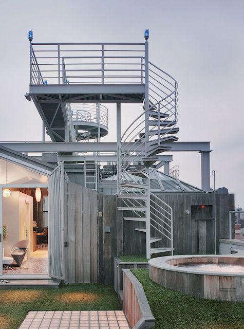 Architect Visit NY Roof Folly by Robert Kahn Architect portrait 4