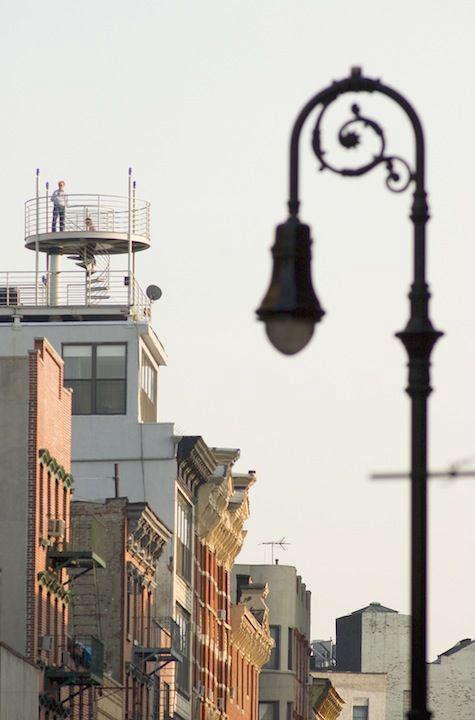 Architect Visit NY Roof Folly by Robert Kahn Architect portrait 3