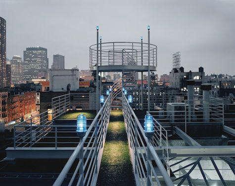 Architect Visit NY Roof Folly by Robert Kahn Architect portrait 7