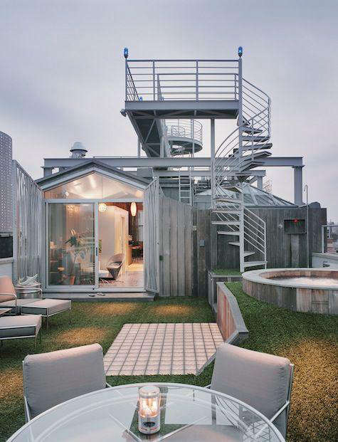 Architect Visit NY Roof Folly by Robert Kahn Architect portrait 6