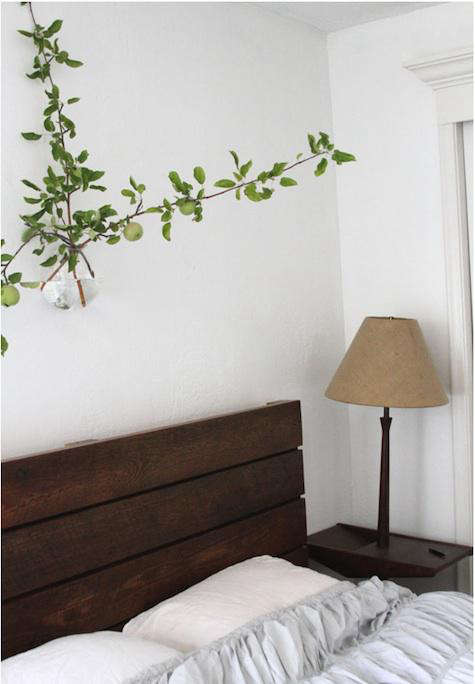 bedroom with wall branch