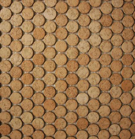cork penny round tile 10