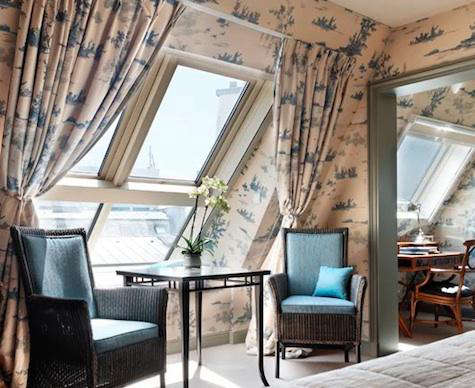 hotel daniel blue toile