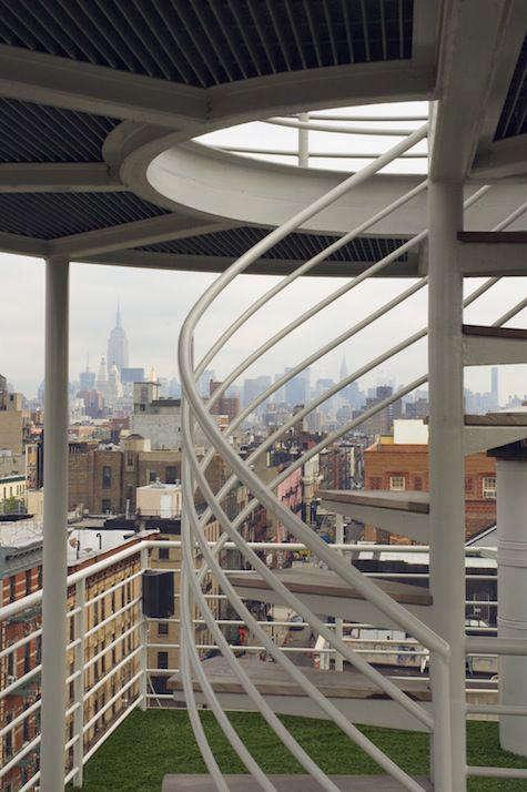 Architect Visit NY Roof Folly by Robert Kahn Architect portrait 5