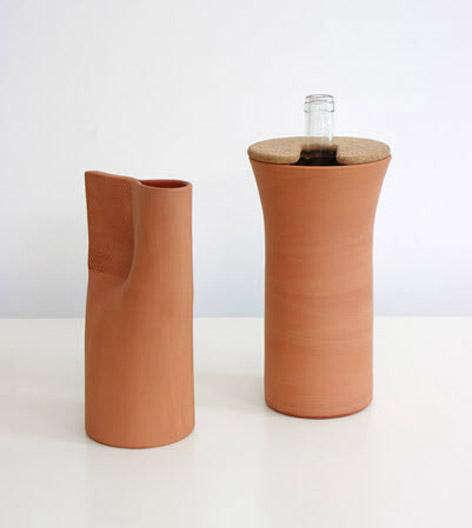 normal studio terracotta wine cooler
