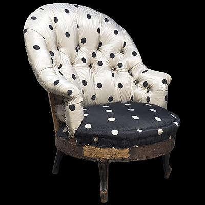 obsolete polk dot chair