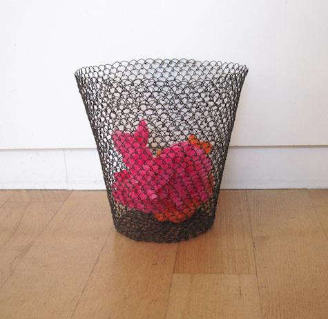 Office Boucle Wire Mesh Wastebasket by Roost portrait 3