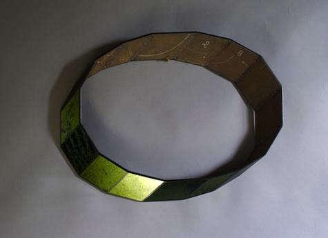 sam orlando miller olive green mirror