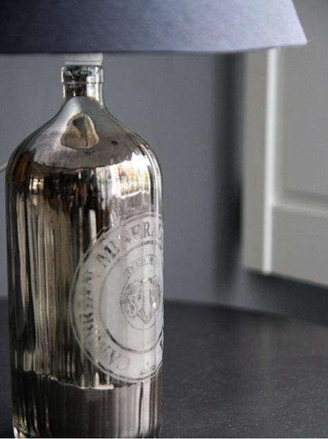 Lighting Silvered Bottle Lamp at Rockett St George portrait 3