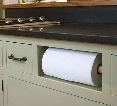 southern living magazine paper towel cubby