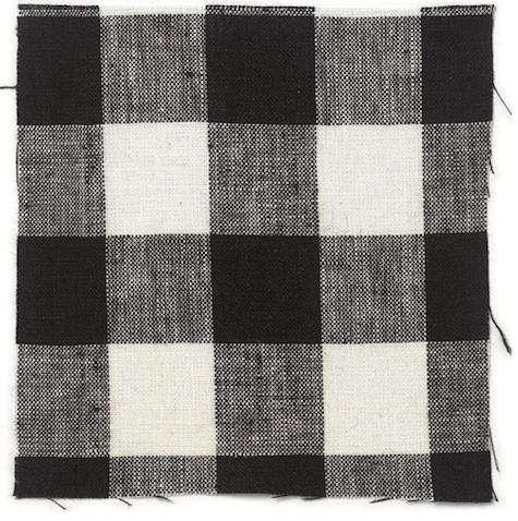 volga checked tablecloth black
