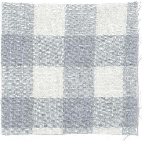 Fabrics  Linens Check Oilcloth from Volga Linen portrait 4