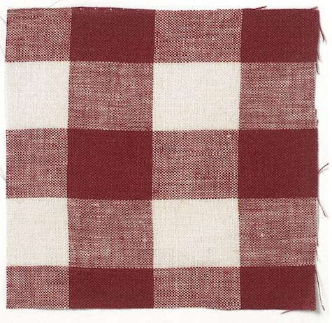 Fabrics  Linens Check Oilcloth from Volga Linen portrait 5