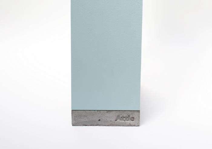700 attic birdhouse blue concrete base