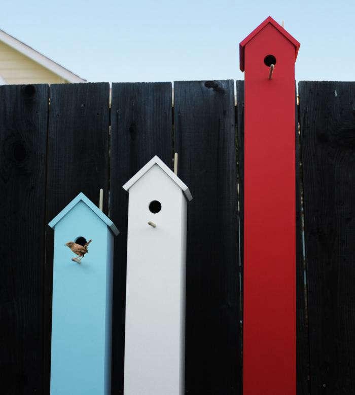 700 attic birdhouse outside