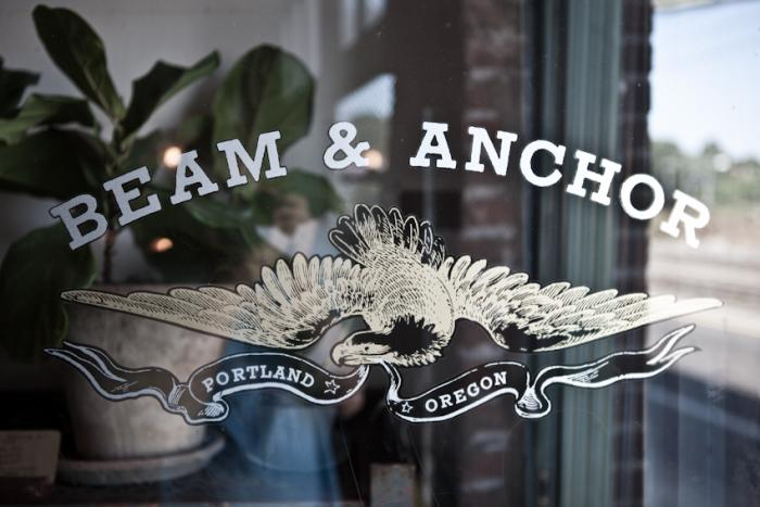 700 beam and anchor door sign