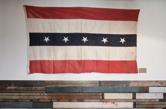 700 beam and anchor flag on wall