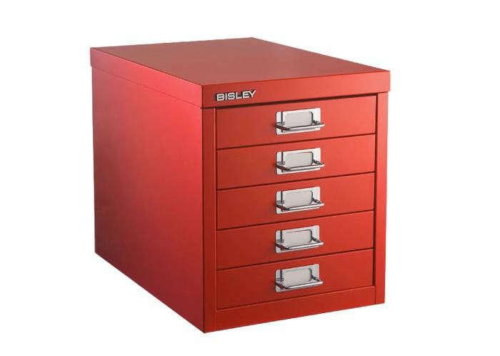 700 bisley red ss drawers